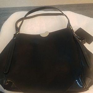 CLUTCH Black 2 tone Handbag